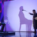 Roman Sudesh tijdens Uri Geller show met Gerard Joling