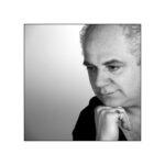 Maarten Stalpers denker groot zwart wit