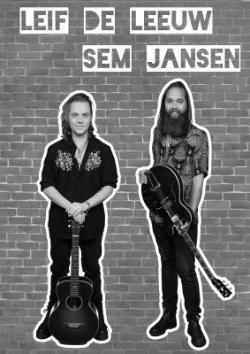 Poster Leif de Leeuw en Sem duo optredens